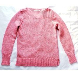 Ann taylor Loft pink boat neck sweater S